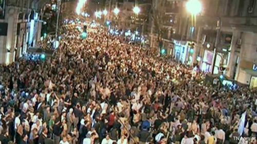 Con gran convocatoria empezó el #cacerolazo contra CFK