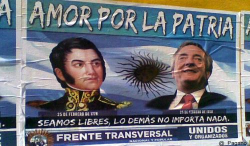 Kirchneristas comparan Nestor con San Martin