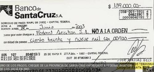 Cuando el tesorero de la Casa de Santa Cruz pagó $139.000 a los Juliá para transportar a Néstor