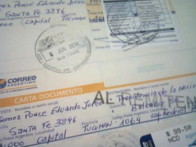 El día que CFK no se dejó notificar sobre la desnutrición